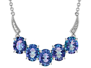 Blue Petalite Sterling Silver Necklace 3.71ctw