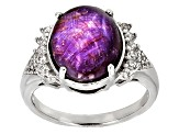 Red Star Ruby Sterling Silver Ring .7.53ctw