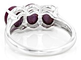 Red Star Ruby Sterling Silver Ring 3.95ctw