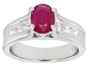 Mahaleo Ruby Sterling Silver Ring 1.75ctw