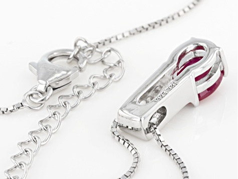 Mahaleo Ruby Sterling Silver Pendant With Chain 1.41ctw