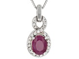 Mahaleo Ruby Sterling Silver Pendant With Chain 1.88ctw