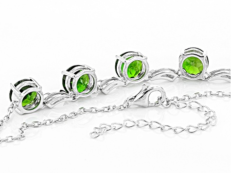 Green Chrome Diopside Sterling Silver Necklace 5.16ctw