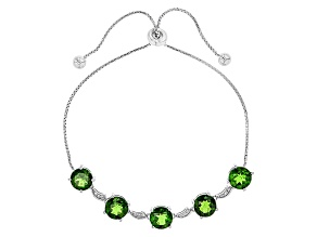 Green Chrome Diopside Sterling Silver Bracelet 5.09ctw