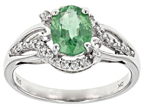 Green Mint Kyanite Sterling Silver Ring 1.42ctw