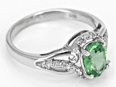 Green Mint Kyanite Sterling Silver Ring 1.42ctw
