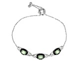 Green Mint Kyanite Sterling Silver Bolo Bracelet 3.22ctw
