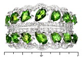 Green Chrome Diopside Sterling Silver Ring 2.93ctw