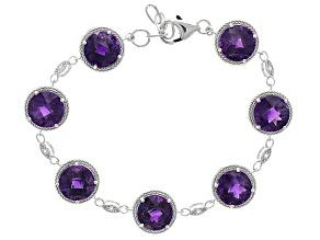 Purple Amethyst Sterling Silver Bracelet 20.62ctw