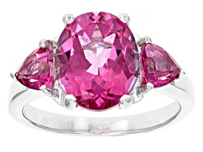 Pure Pink™ Topaz Sterling Silver Ring 4.78ctw