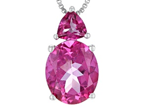Pure Pink™ Topaz Sterling Silver Pendant With Chain 4.31ctw