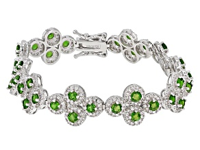 Green Chrome Diopside Sterling Silver Bracelet 9.60ctw
