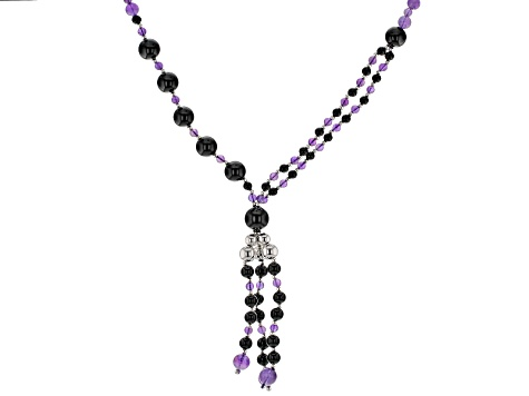 Purple Amethyst Sterling Silver Tassel Necklace