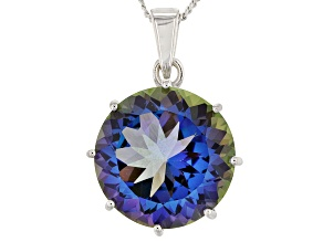 Odyssey Blue™ Mystic Quartz® Silver Pendant With Chain 5.25ct