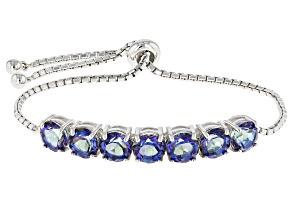 Odyssey Blue™ Mystic Quartz®Silver Bolo Bracelet 7.00ctw