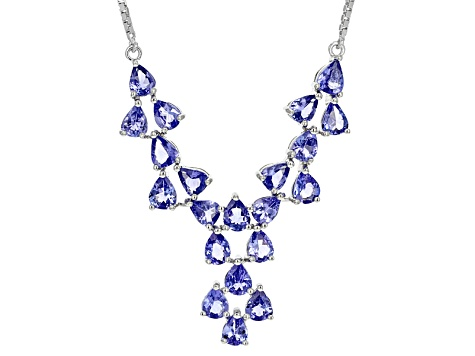 Blue Tanzanite Sterling Silver Necklace 5.10ctw