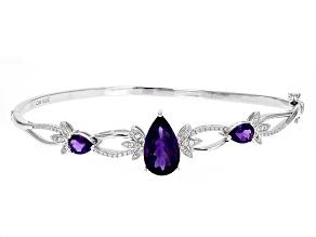 Purple Amethyst Silver Bracelet 5.94ctw