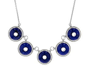 Blue Lapis Lazuli Sterling Silver Necklace