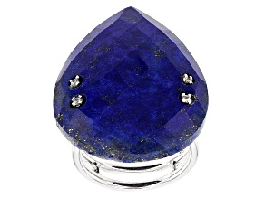Blue Lapis Lazuli Sterling Silver Ring .13ctw