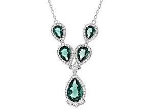 Blue Fluorite Sterling Silver Necklace 8.74ctw