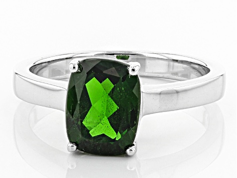 Green Chrome Diopside Sterling Silver Ring 1.75ct