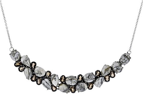 Golden Pyrite Sterling Silver Necklace 9.46ctw