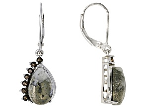 Golden Pyrite Sterling Silver Earrings .47ctw