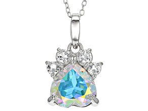 Multi-color Mercury Mist (R) Topaz Silver Pendant With Chain 2.58ctw