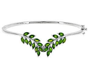 Green Chrome Diopside Sterling Silver Bracelet 2.81ctw