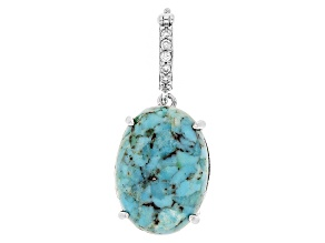 Blue Turquoise Sterling Silver Enhancer .15ctw