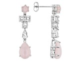 Pink Peruvian Opal Sterling Silver Earrings 1.48ctw