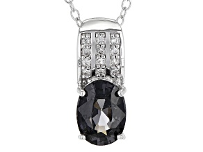 Platinum Spinel Rhodium Over Silver Pendant With Chain 1.14ctw