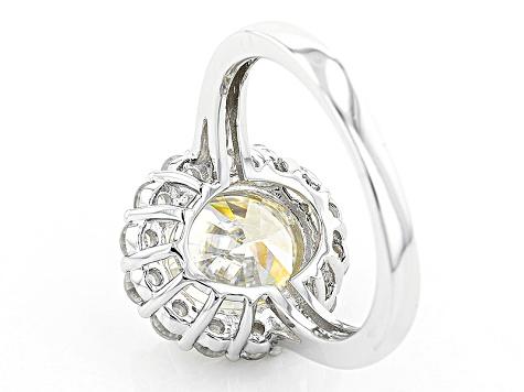 White Fabulite Strontium Titanate Sterling Silver Ring 6 42ctw