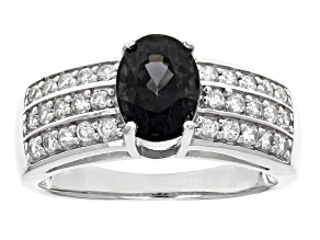 Platinum Spinel Sterling Silver Ring 1.70ctw