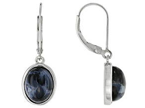 Blue Pietersite Sterling Silver Earrings
