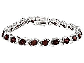 Red Zircon Sterling Silver Bracelet 15.70ctw