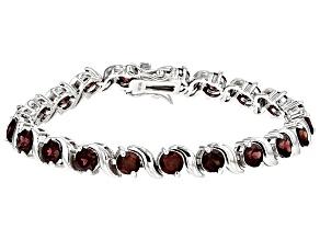 Red Zircon Sterling Silver Bracelet 15.70ctw