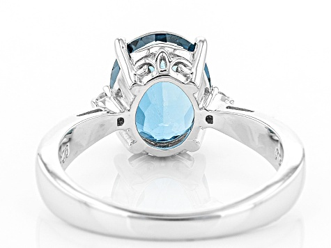 London Blue Topaz Sterling Silver Ring 2.71ctw
