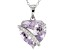 Lavender Amethyst Sterling Silver Pendant With Chain 6.36ctw