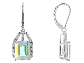 Mercury Mist® Mystic Topaz® Rhodium Over Silver Earrings 7.59ctw