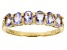 Blue tanzanite 18k gold over sterling silver ring .85ctw