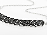Black Spinel Sterling Silver Necklace 4.20ctw