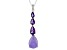 Purple Chalcedony Sterling Silver Pendant With Chain 2.05ctw