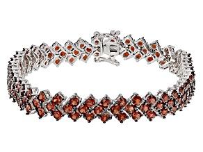 Red Garnet Sterling Silver Bracelet 16.70ctw