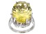 Canary Yellow Quartz Sterling Silver Ring 14.45ctw