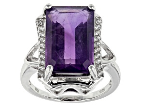 Purple Amethyst Sterling Silver Ring 8.35ctw