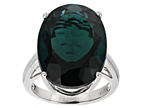 Blue Teal Fluorite Sterling Silver Ring 18.70ct