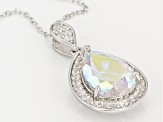 Mercury Mist® Topaz Rhodium Over Silver Pendant With Chain 5.66ctw