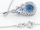 London Blue Topaz Sterling Silver Pendant With Chain 2.45ctw