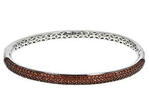 Red Garnet Sterling Silver Bracelet 6.37ctw